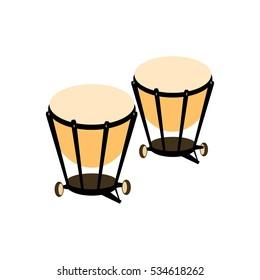 Percussion drum icon. Ethnic drum. Vector illustration.