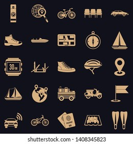 Peregrinate icons set. Simple set of 25 peregrinate vector icons for web for any design