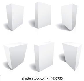 Perfect Blank 3d boxes Vectors. Six templates