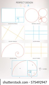 Perfect Design. Golden ratios. Vector illustration