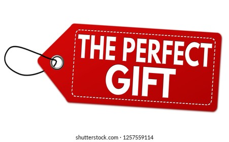 The perfect gift label or price tag on white background, vector illustration