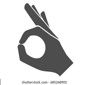 Perfect hand sign icon