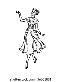Perfect Housewife - Retro Clip Art