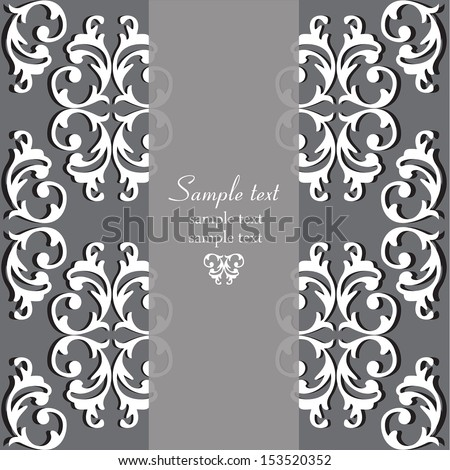 Perfect Invitations Ornate Backgrounds Wedding Card Stock Vector