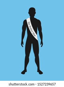 The perfect man - masculine black man is awarded as the best, ideal and perfect man. Vector illustration.