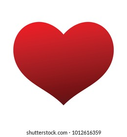 Perfect shaped red heart symbol that represent love and deep emo