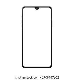 Perfectly detailed modern smart phone isolation vector
