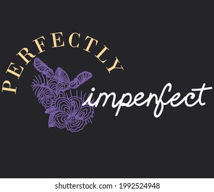 Perfectly imperfect print design. Tropical flower vector design for apparel and others. Summer flower  t shirt vector artwork.
