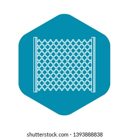Perforated gate icon. Outline illustration of perforated gate vector icon for web
