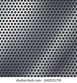 Perforated metal texture.