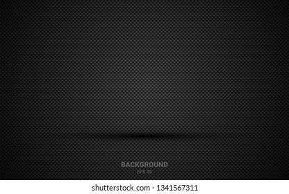 perforated metal texture with geometric background design. Black abstract geometric background. abstract steel backdrop and shadow. Vector 3d. EPS10.