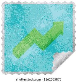 performance arrow graphic square sticker stamp