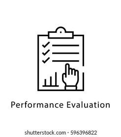Performance Evaluation Vector Line Icon