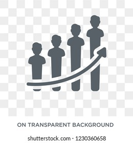 performance icon. Trendy flat vector performance icon on transparent background from General collection.