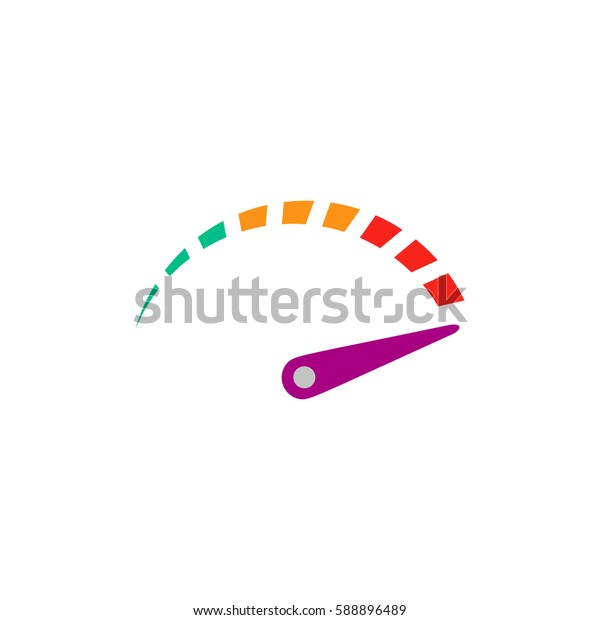 Performance measurement. Color symbol icon on white background. Vector illustration