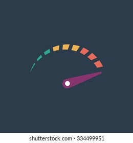 Performance measurement. Colorful vector icon. Simple retro color modern illustration pictogram. Collection concept symbol for infographic project and logo