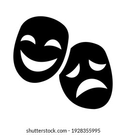Performing arts icon isolated vector illustration. High quality black style vector icons.