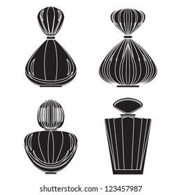 Perfume bottle silhouette
