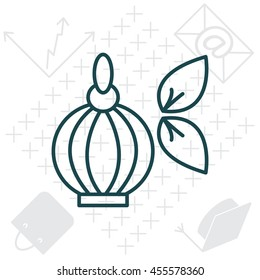 Perfume bottle vector icon