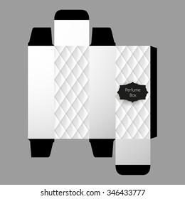 Perfume Box Template Design, Vector,