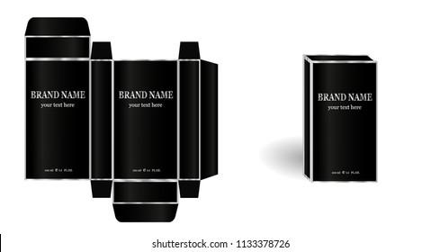 perfume design box packaging men's classic
