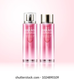 Perfume realistic cosmetic vector bottles