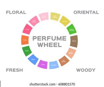 perfume wheel vector
