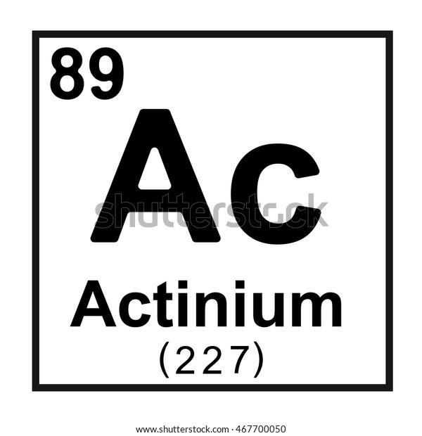 Periodic Table Element Actinium Stock Vector (Royalty Free