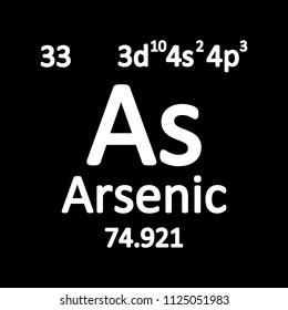 Periodic table element arsenic icon on white background. Vector illustration.