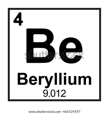 Periodic Table Element Beryllium Stock Vektorgrafik Lizenzfrei