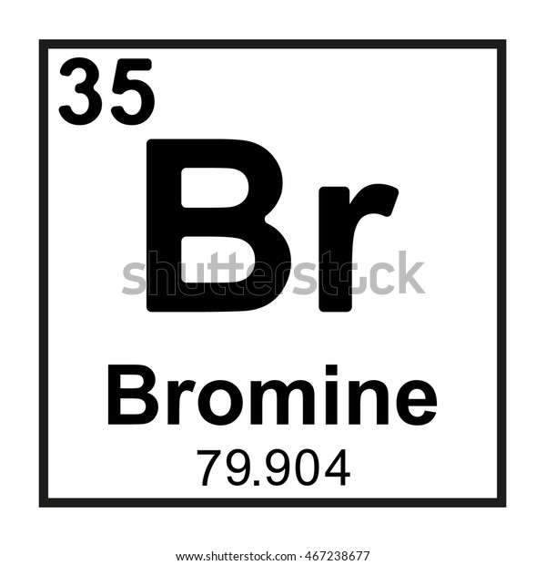 Periodic Table Element Bromine Stock Vector Royalty Free