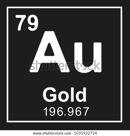 Periodic Table Element Gold Au White Stock Vector Royalty Free
