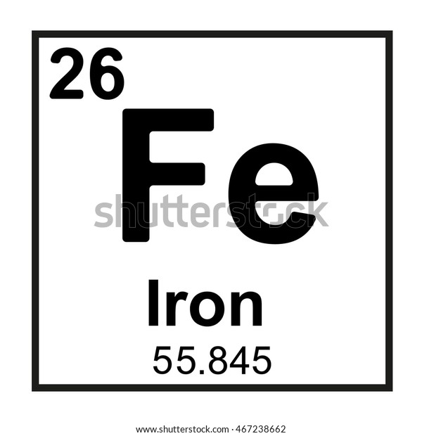 Periodic Table Element Iron Stock Vector (Royalty Free ...