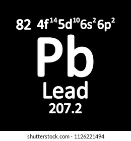 Periodic table element lead icon on white background. Vector illustration.
