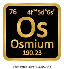 Osmium stock vectors images vector art shutterstock periodic table element osmium icon on white background vector illustration urtaz Choice Image