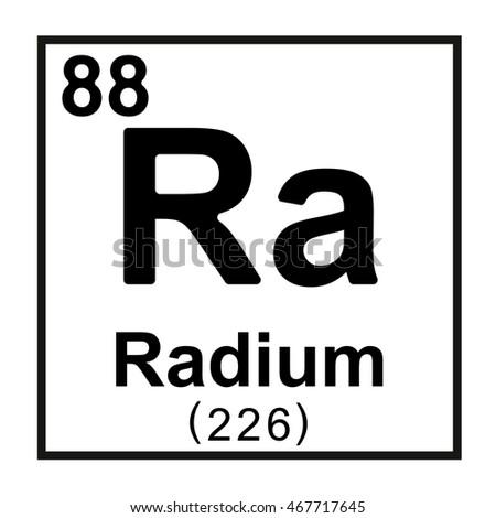Periodic Table Element Radium Stock Vector Royalty Free 467717645