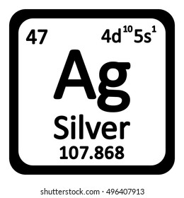 Silver periodic table images stock photos vectors shutterstock periodic table element silver icon on white background vector illustration urtaz Choice Image