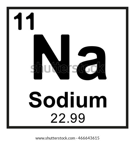Periodic Table Element Sodium Stock Vector Royalty Free 466643615