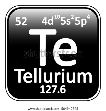 Periodic Table Element Tellurium Icon On Stock Vector Royalty Free