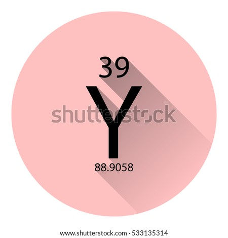 Periodic Table Element Yttrium Basic Properties Stock Vector
