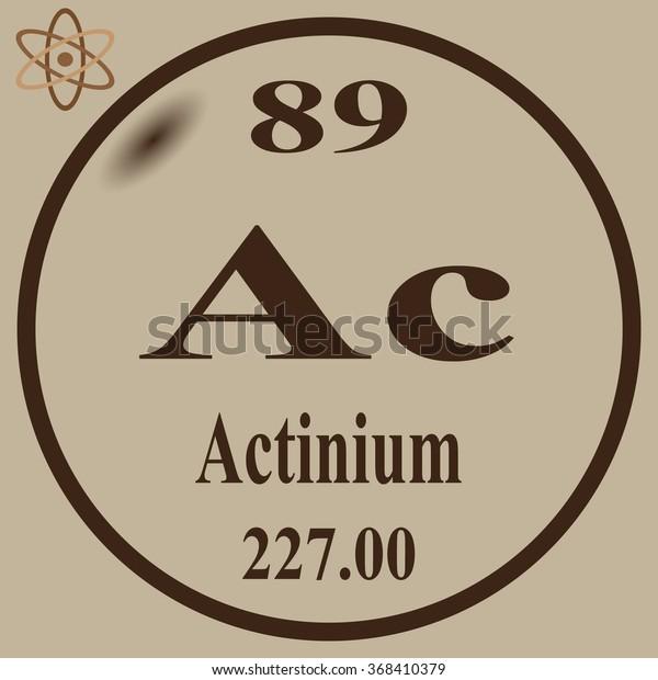 Periodic Table Elements Actinium Stock Vector (Royalty Free