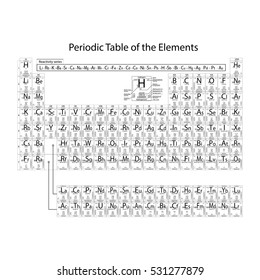 Electronegativity stock images royalty free images vectors periodic table of the elements with atomic number symbol weight period oxidation urtaz Image collections