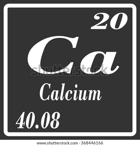 Periodic Table Elements Calcium Stock Vector Royalty Free