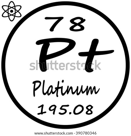 Periodic Table Elements Platinum Stock Vector Royalty Free