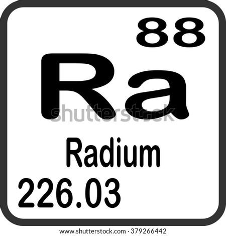 Periodic Table Elements Radium Stock Vector Royalty Free 379266442