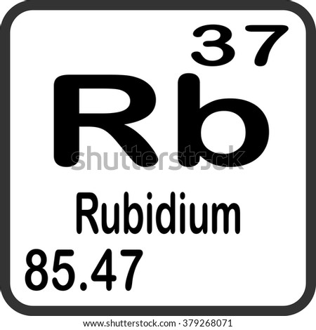 Periodic Table Elements Rubidium Stock Vector Royalty Free