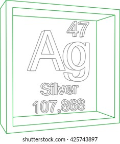 Periodic table elements silver stock vector 425744281 shutterstock periodic table of elements silver urtaz