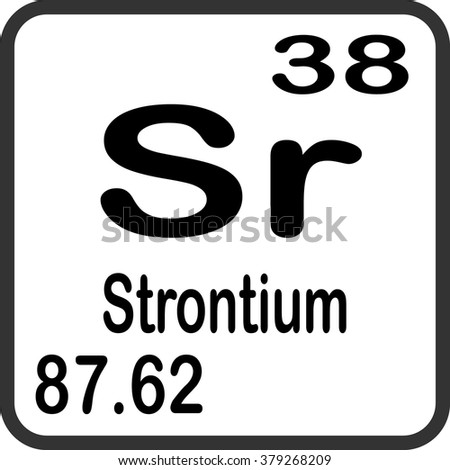 Periodic Table Elements Strontium Stock Vector Royalty Free