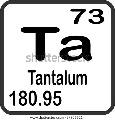 Periodic Table Elements Tantalum Stock Vector Royalty Free