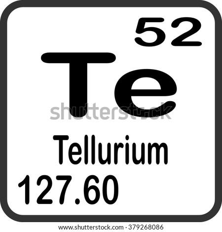 Periodic table elements tellurium stock vector royalty free periodic table of elements tellurium urtaz Images